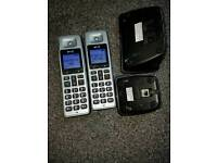 BT cordless twin home phone set