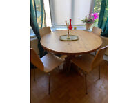 Wooden Dining Table and 4 Chairs - Great Condition!