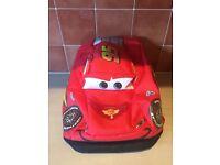 Disney Lightening McQueen Cars PAdded Rucksack Bag Ex Cond