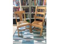 Solid wood dining chairs - Less than £5 each!