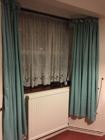 Curtains - 2 pairs of teal curtains