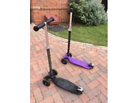 Purple Micro Scooter with joystick handlebar looking for a new home