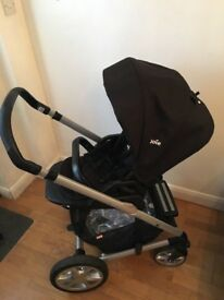 Joie Pram & Carrycot with Rain covers - Used but looks new