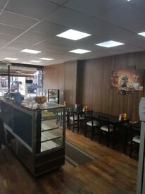 Newly refurbished cafe in a great location on a busy street for sale
