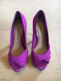 DOROTHY PERKINS ladies women's heels shoes NEW 4 purple like topshop river Zara