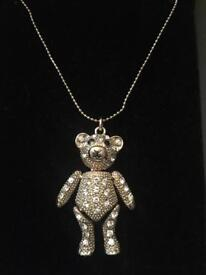 Teddy bear necklace new in box