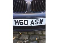 M60 ASW number plate,..... on registration papers.... ready to put on cast... plates not supplief