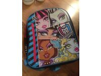 Monster High presents combo: backpack, folder and pencil case