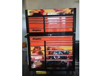 "40"" snap on tool box in black and orange ltd edition 192 0f 335"