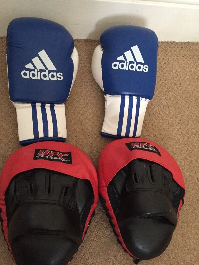 Adidas gloves and UFC training pads | in Plymouth, Devon