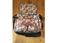 Floral changing bag