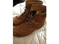 Mens Boots Size 10 2x Caterpiller & 1 Timberland All Hardly Worn As Shown In Pics £15 Each Pair