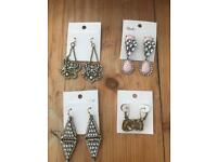 Job lot - vintage style fashion earrings