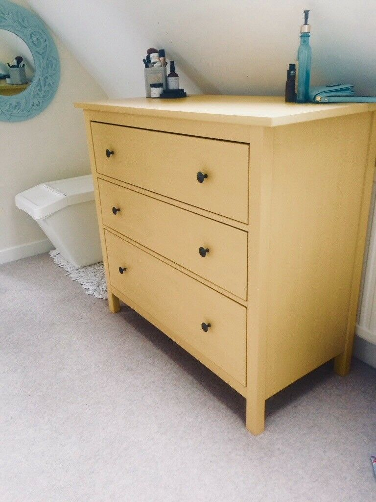 Yellow Chest Of Drawers Modern Vintage Bedroom Dresser