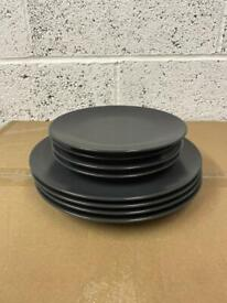 Set of 8 grey Plates
