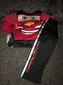Lightening McQueen dress up costume 3-4