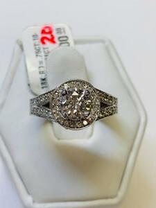 NEW 1.80TCW DIAMOND ENGAGEMENT ETERNITY RING 18K WG ON SALE NOW