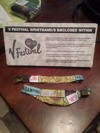 2 V FESTIVAL TICKETS FOR SALE WITH CAMPING FOR THIS WEEKEND!