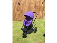 Quinny Moodd Purple Pushchair With Accessories
