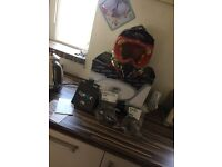 Arioh Aviator Rockstar Motocross Helmet Size M