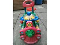 Sit on, push along train toddler toy