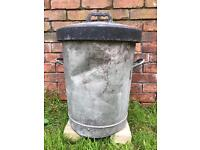 Old Fashioned Galvanised bin