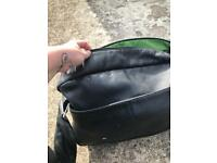 Bugaboo black leather change bag