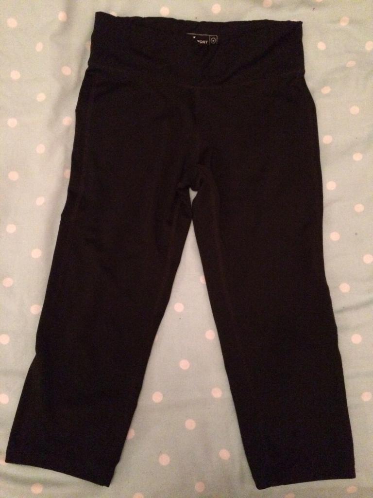Next black crop leggings 8