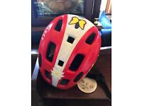 Red bike helmet Size S