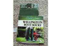 ladies wellington boot sock liners size 4-7 (37-41) brand new - grey or black