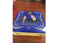William and Kate commemorative biscuit tin