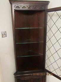 Jaycee Dark Oak Display corner Unit