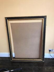 Large antique gothic mirror / picture frame 108cm x 140cm