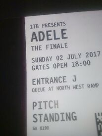 2 x Adele tickets, Wembley, 2nd July. General admission £150 for the pair