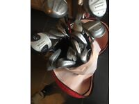 Golf club set with bag in good condition