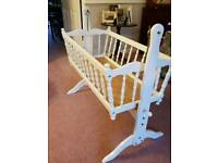 Traditional Vintage Wooden Crib - Baby Cot