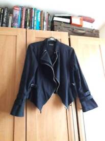 Navy size 16 biker jacket