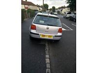 VW GOLF 1.6 Reconditioned engine, Good runner, cherished number plate,owner going abroad.