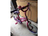 Disney princess bike in good working order suitable from age 3-6 approx