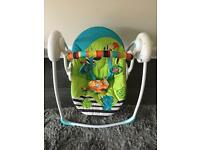Bright starts zoo tails baby swing