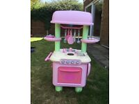 ELC Play Kitchen Early Learning Centre pink and accessories