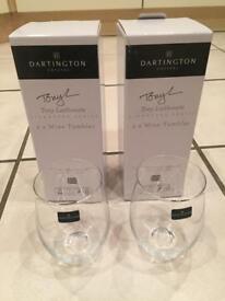 4 Laithwaite Dartington Wine Tumblers for sale