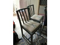 1940s dining chair x4--great chalk paint project