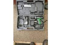 Hitachi 18v hammer plus makita plus loads of bits in photo