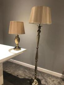 *SOLD* Gold lamps x 2