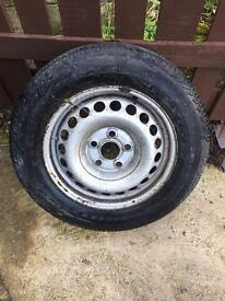 Vw Transporter T5 T5.1 t6 spare wheel and tyre steel 205 65 16