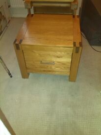 2 Matching Light Solid Wooden Livingroom End Tables