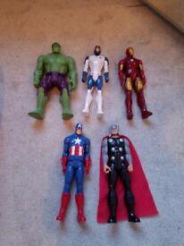 Marvel Action Figures x 6