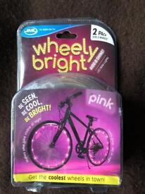 New JML Wheely Bright: LED Bike Wheel And Frame Lights 2 Pack for 2 Wheels