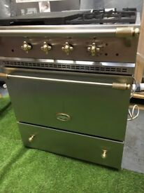 lovely Lacanche Range cooker 70cm width RARE oven stainless Steel brass